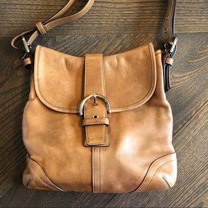 Coach Purse Shoulder Bag Brown H3S-9480
